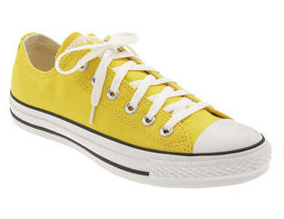 converse basse gialle